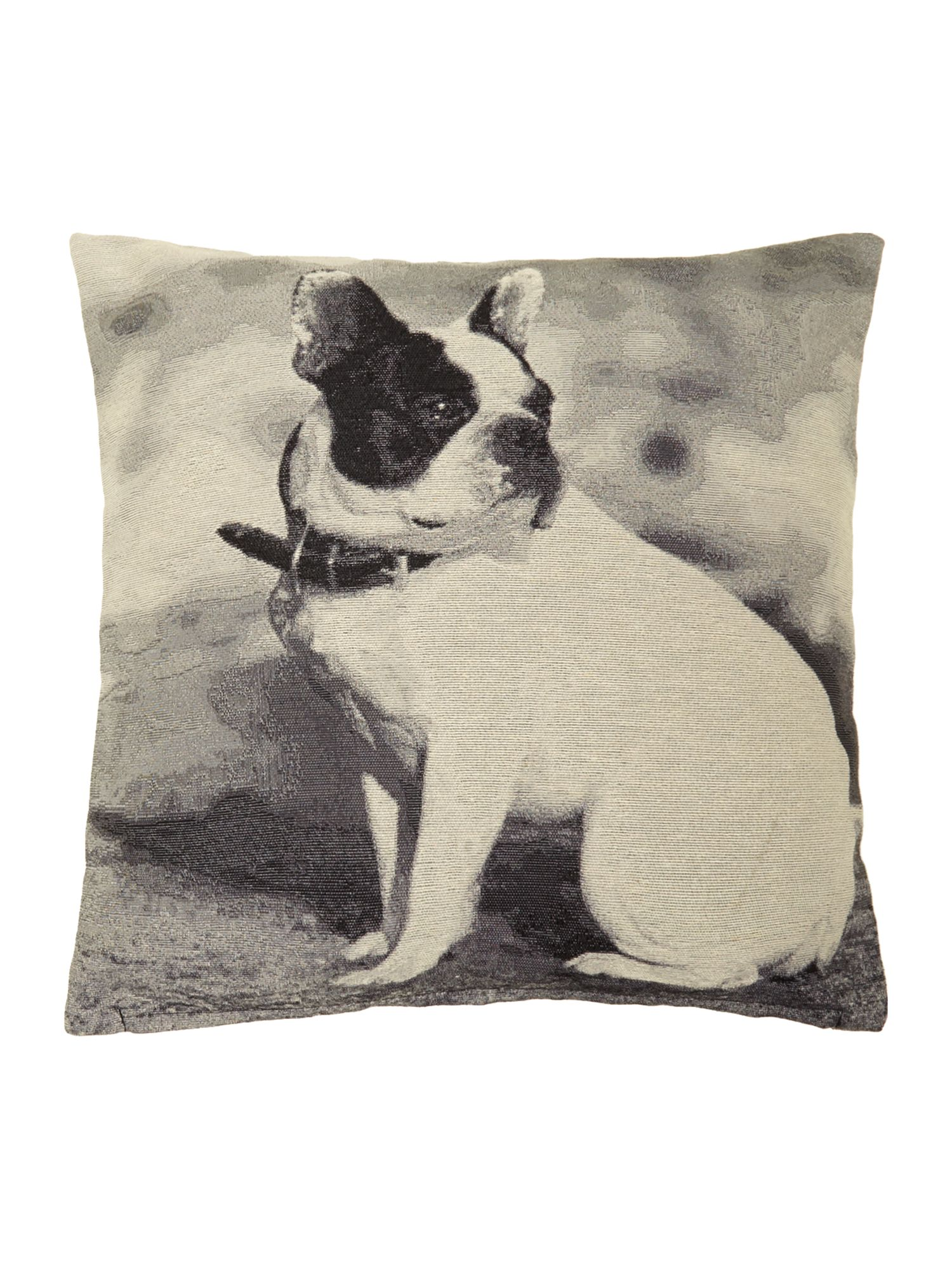 Dog jacquard cushion