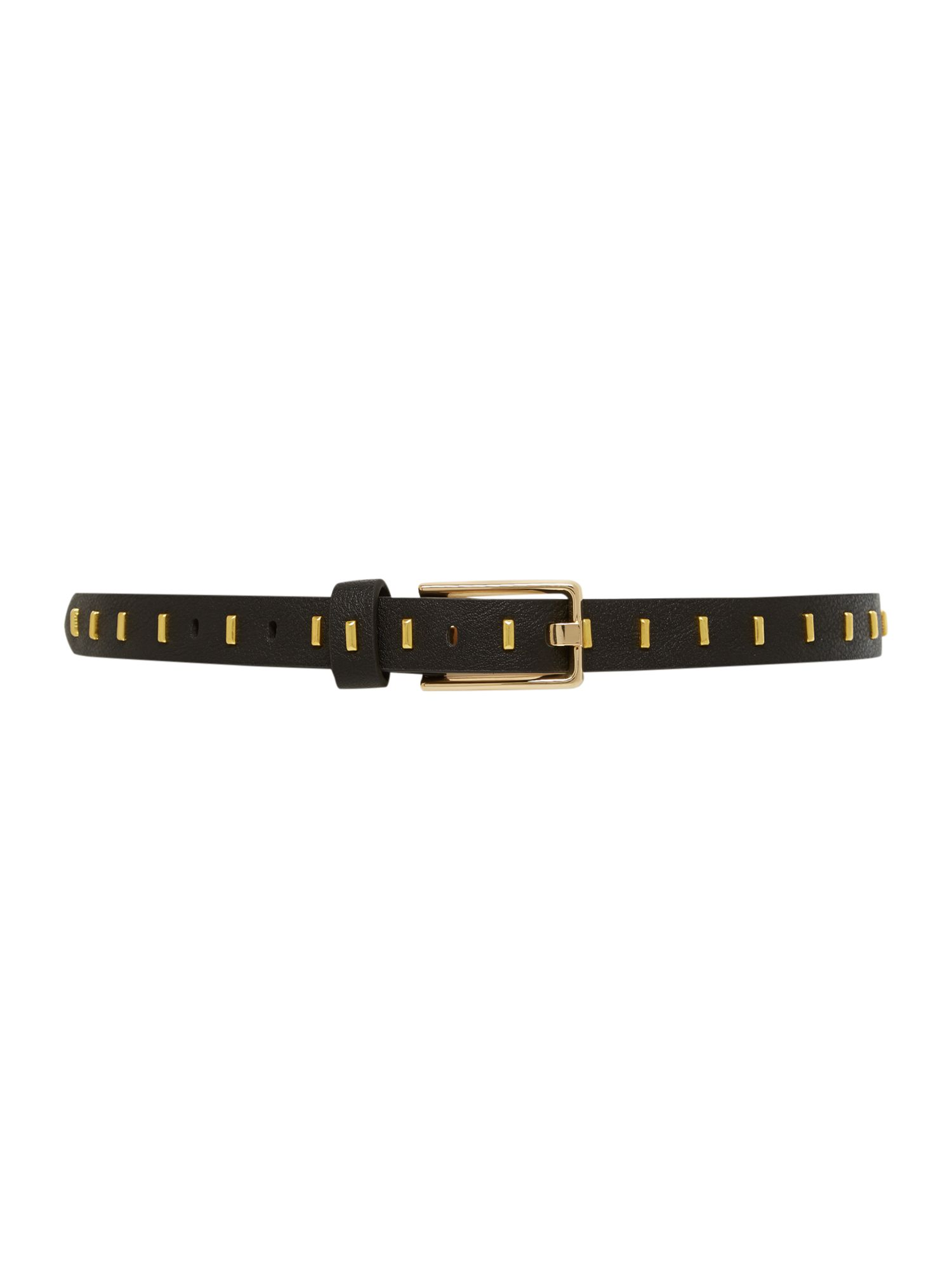 Black square buckle belt