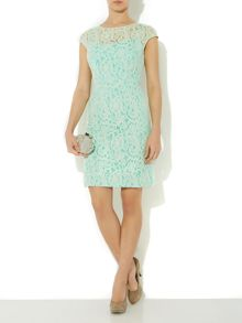 Lace contrast lining dress