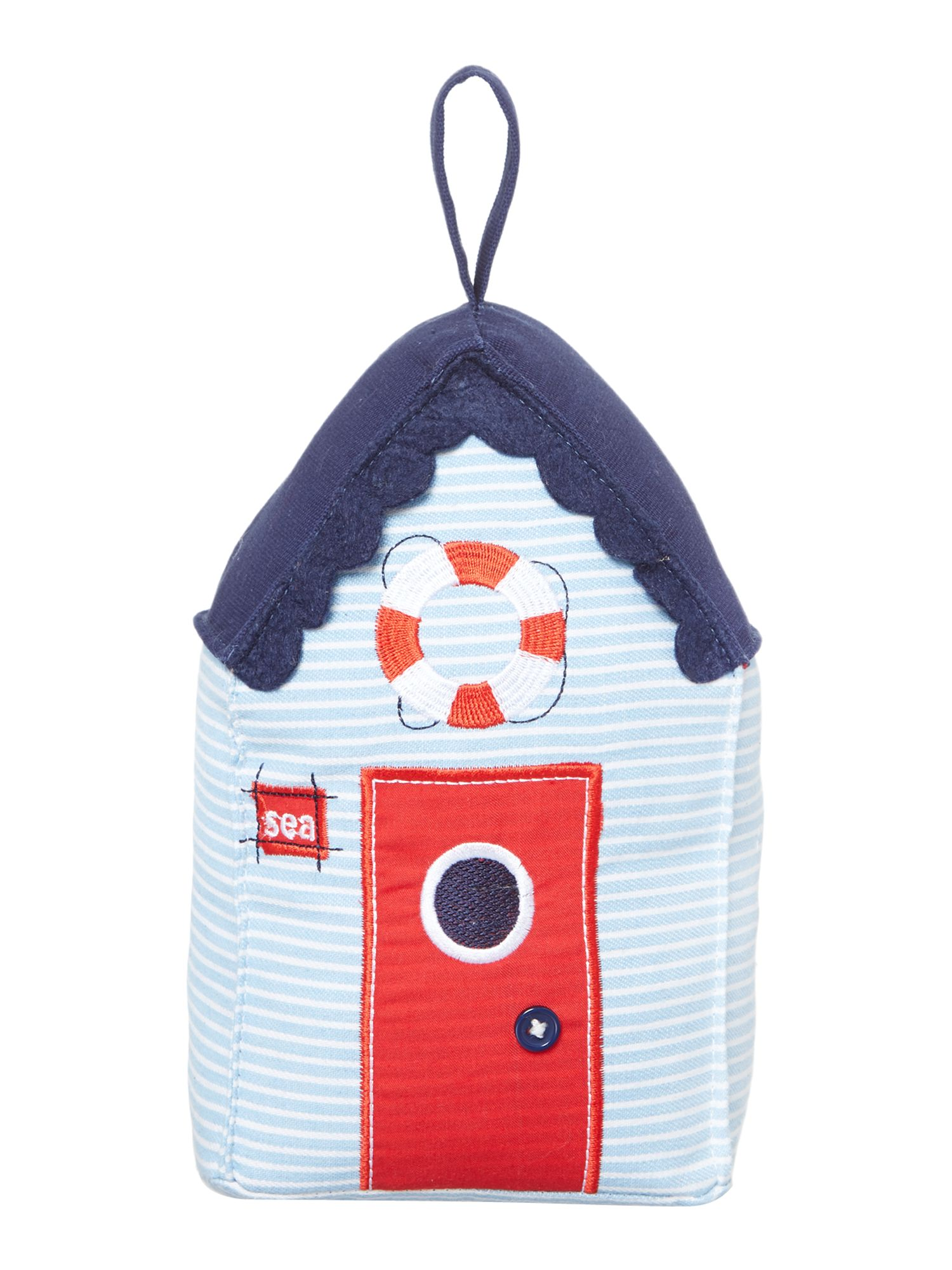 Beach hut doorstop