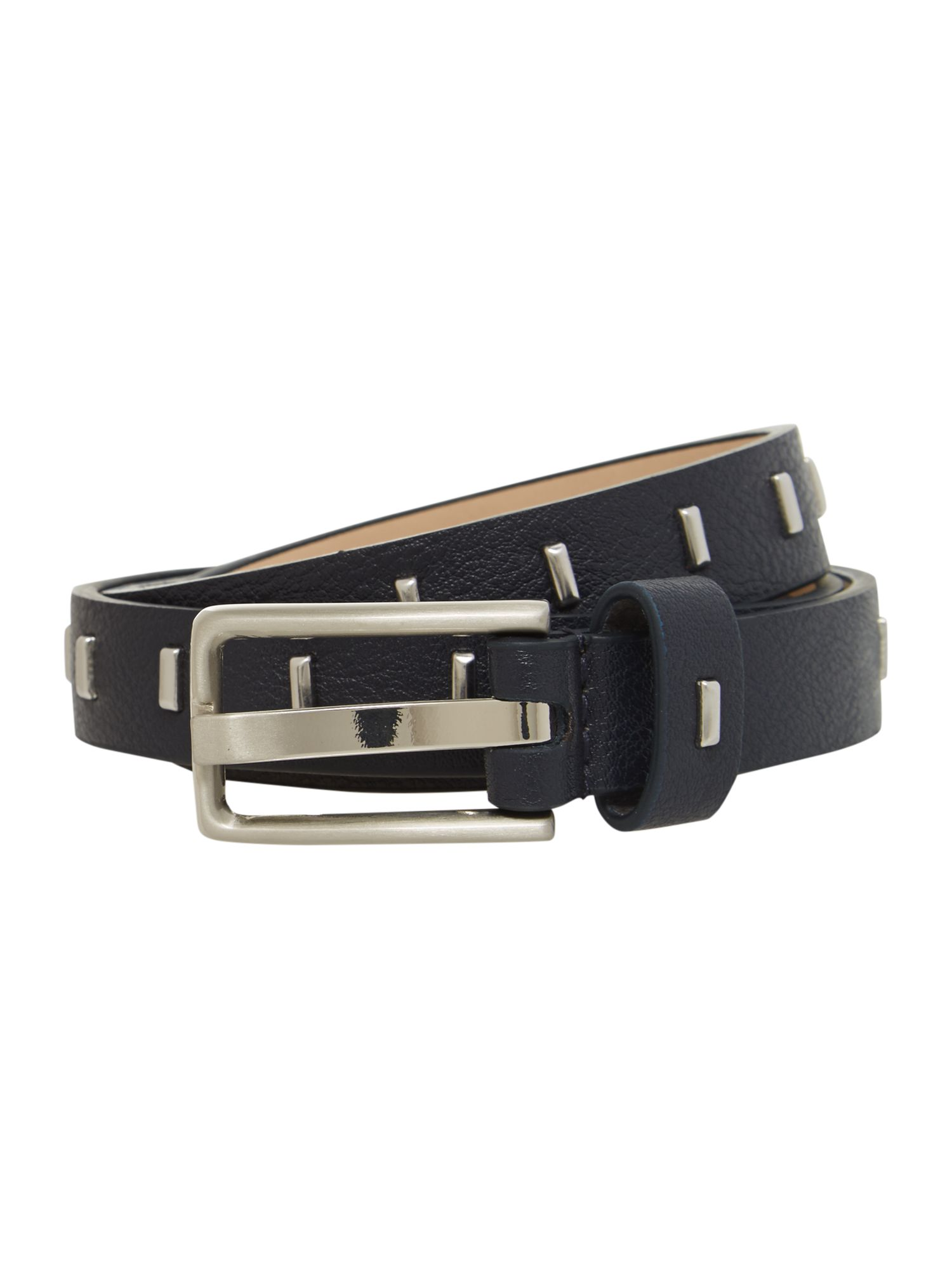 Navy square buckle belt