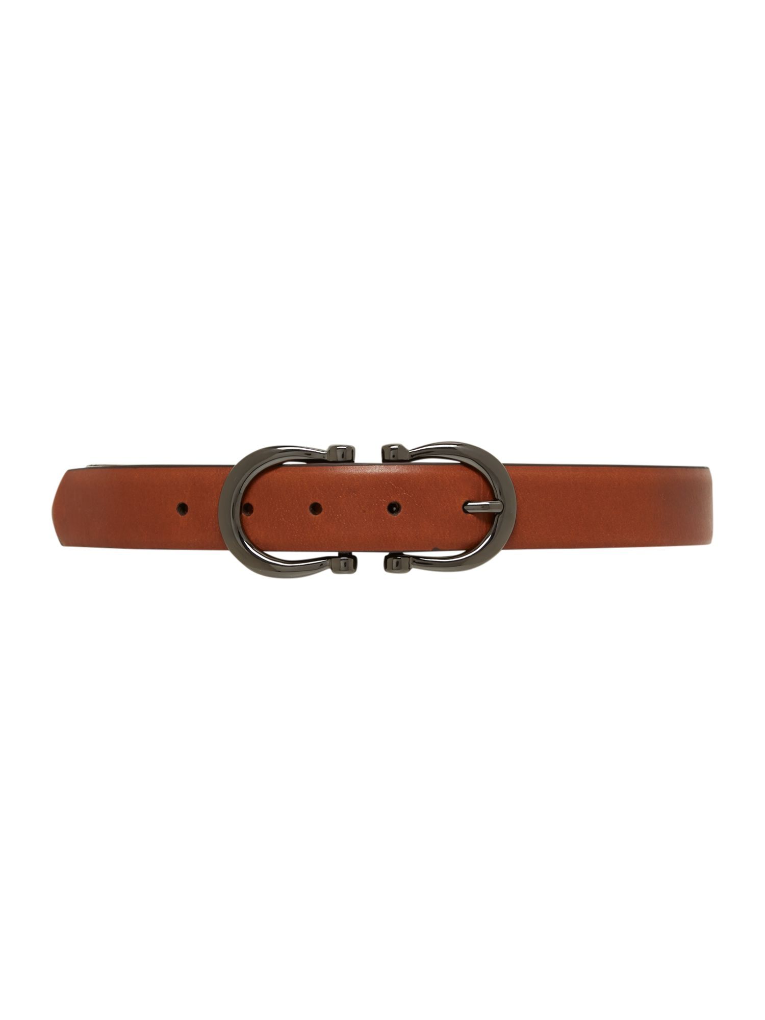 Stephen Collins Stephen Collins Black square buckle belt, Tan