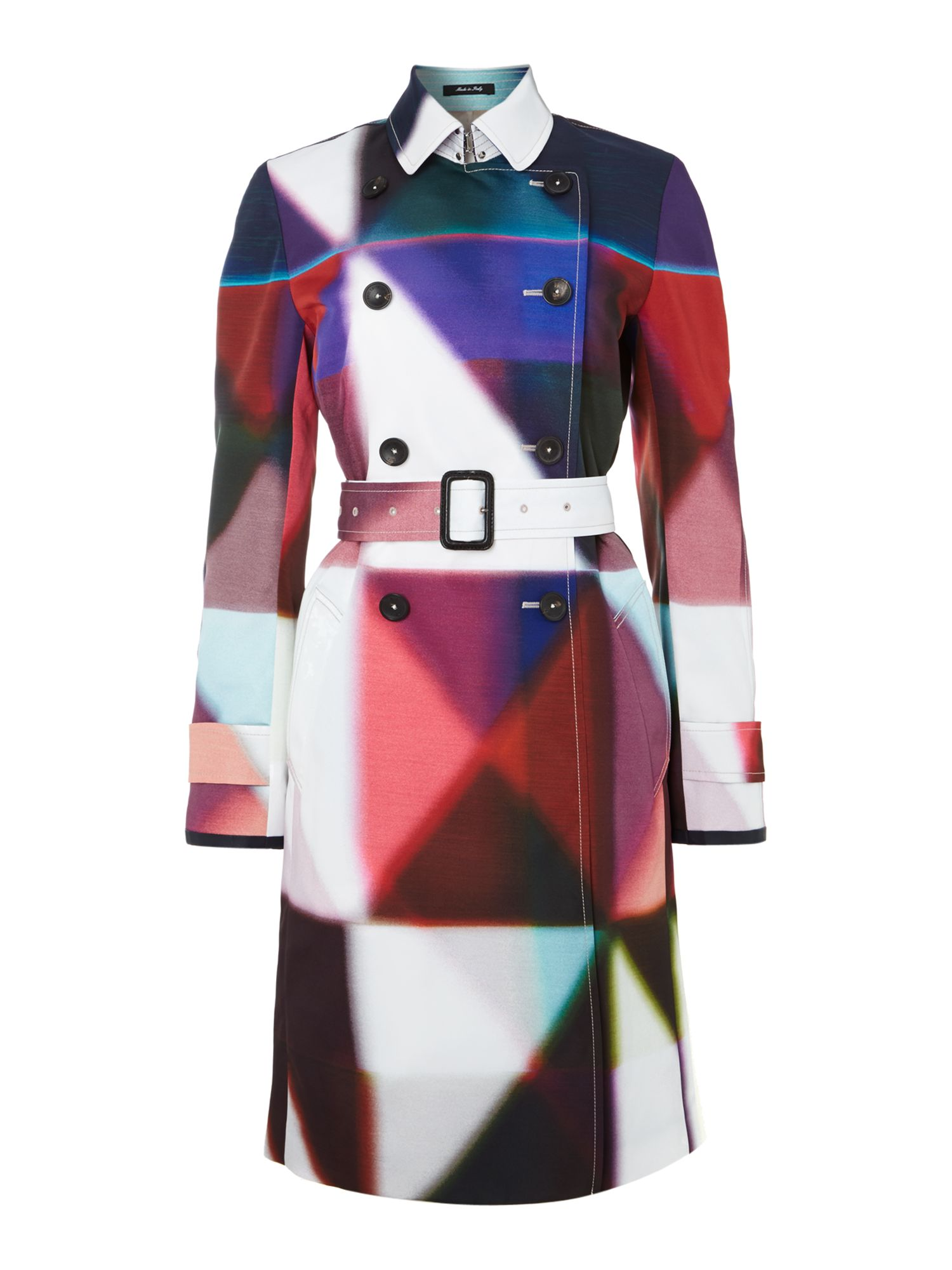 Paul Smith Black Label Printed trench coat, Multi-Coloured