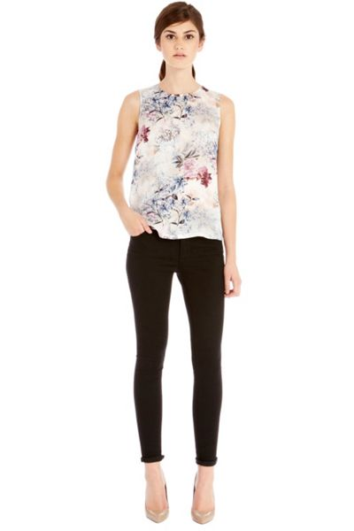 Warehouse Winter floral print shell