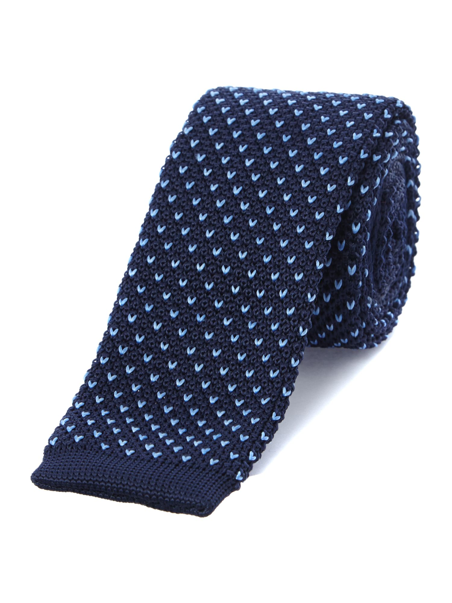 Blunt ended knitted tie
