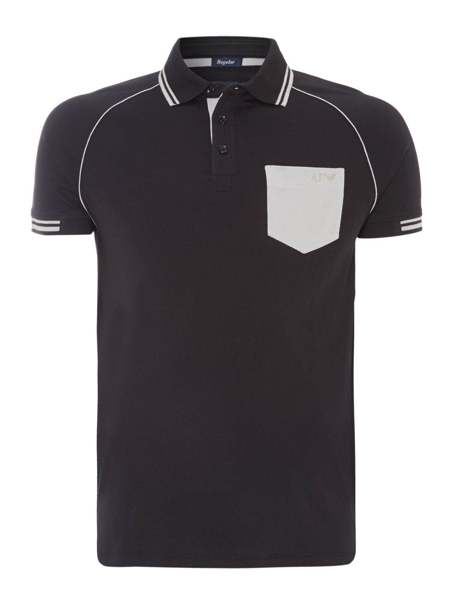Contrast collar and pocket polo