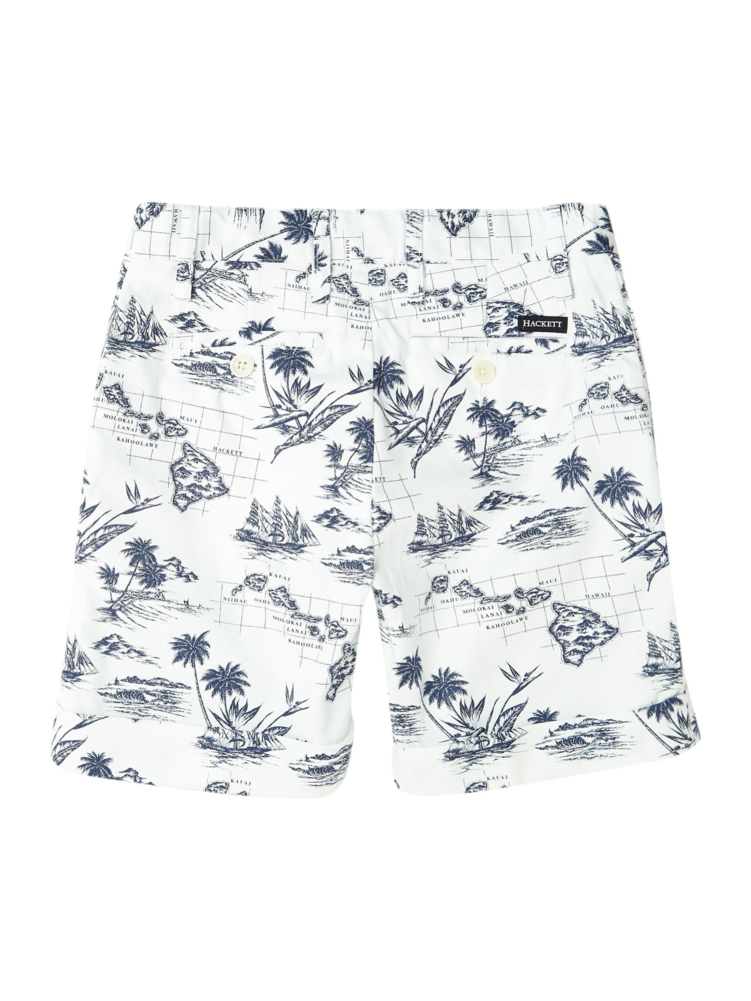 Boy`s hawaiian print shorts