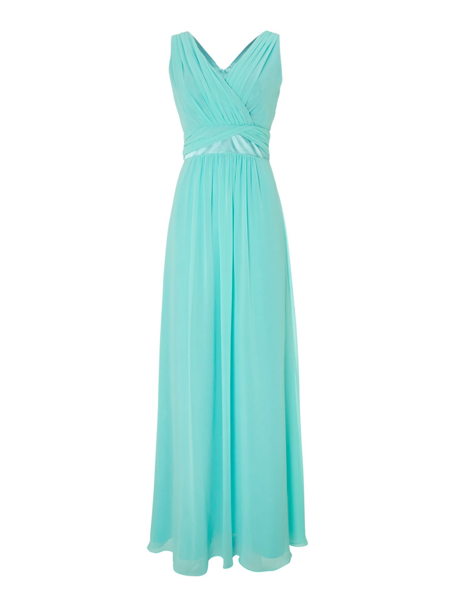 Bridesmaid Chiffon Waist Detail Dress
