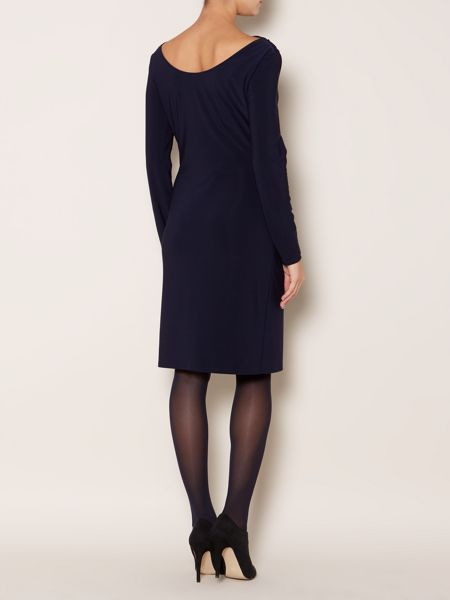 Linea Long sleeve moon ruched dress