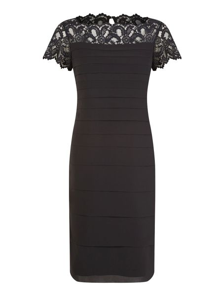 Jacques Vert Lace yoke chiffon dress