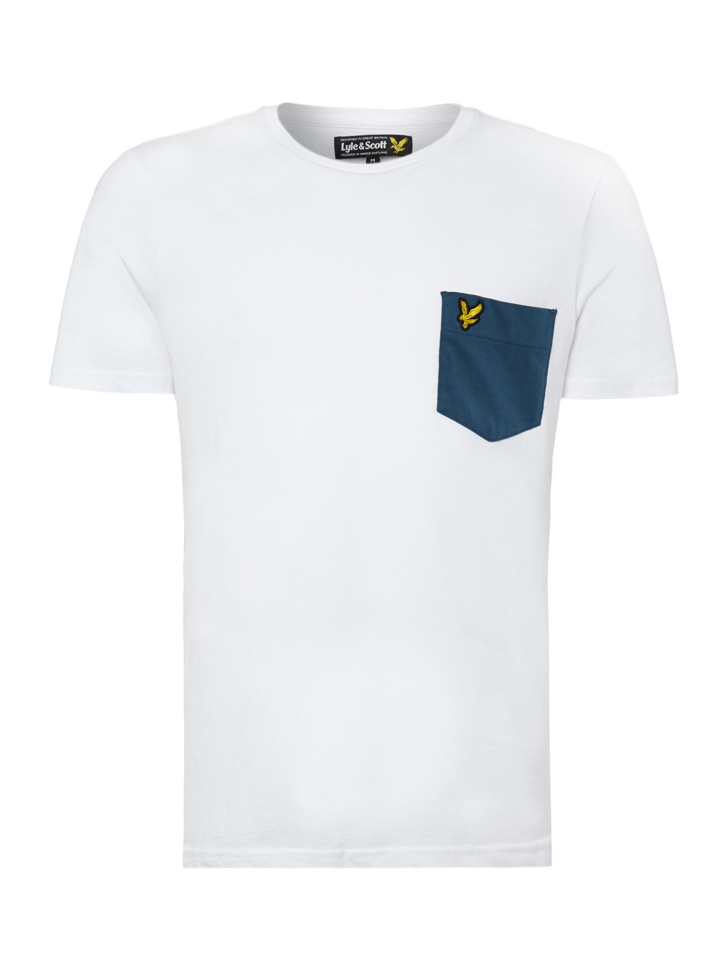Contrast pocket t shirt