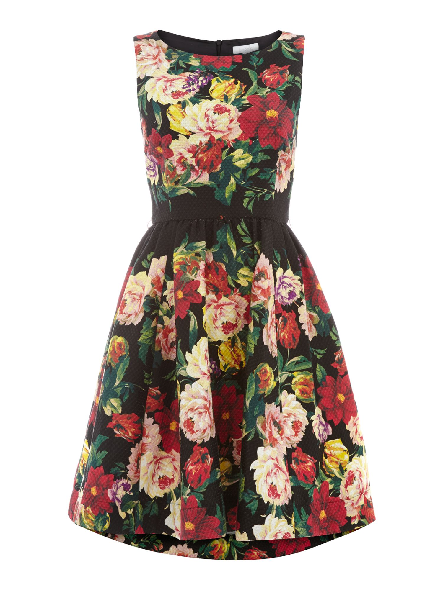 Piquet floral dress
