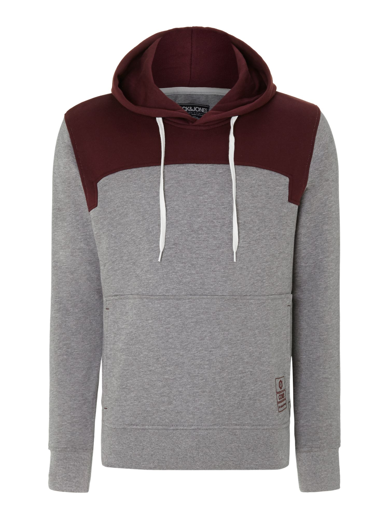 Colour block hooded sweat