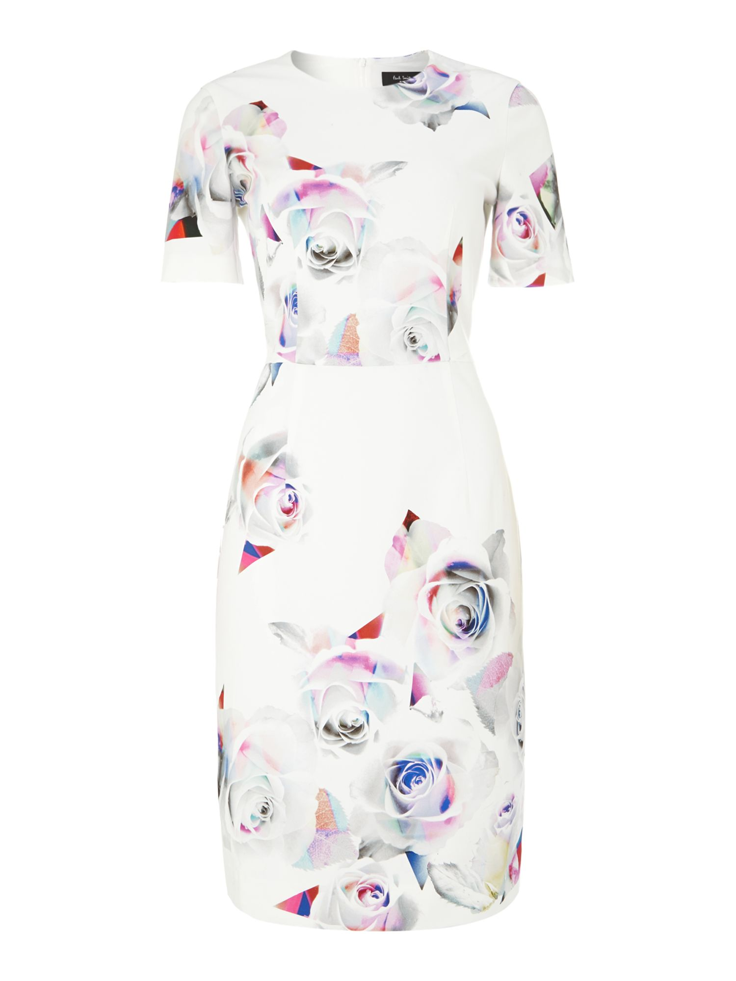Rose print shift dress
