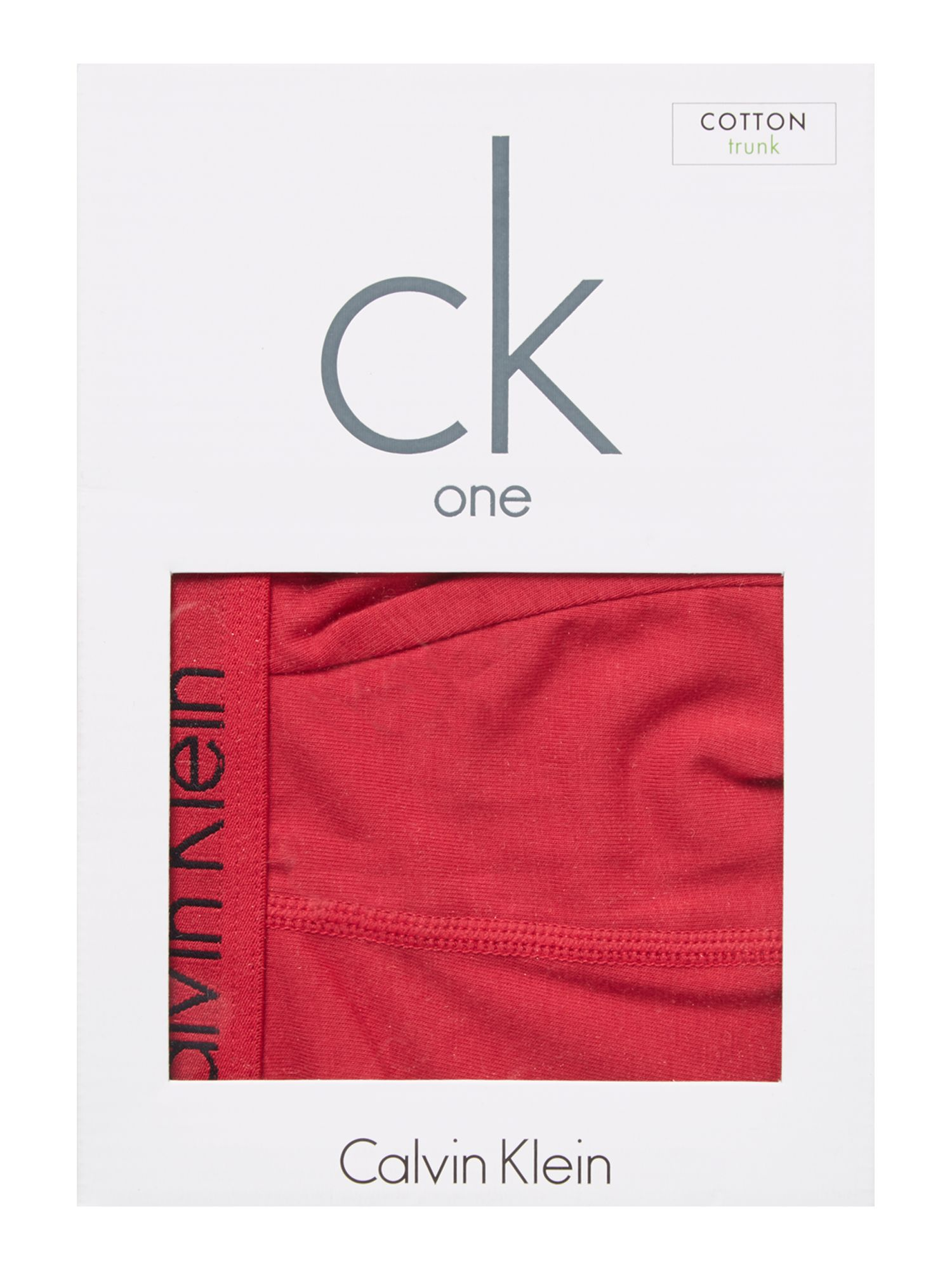 Flame red underwear trunk