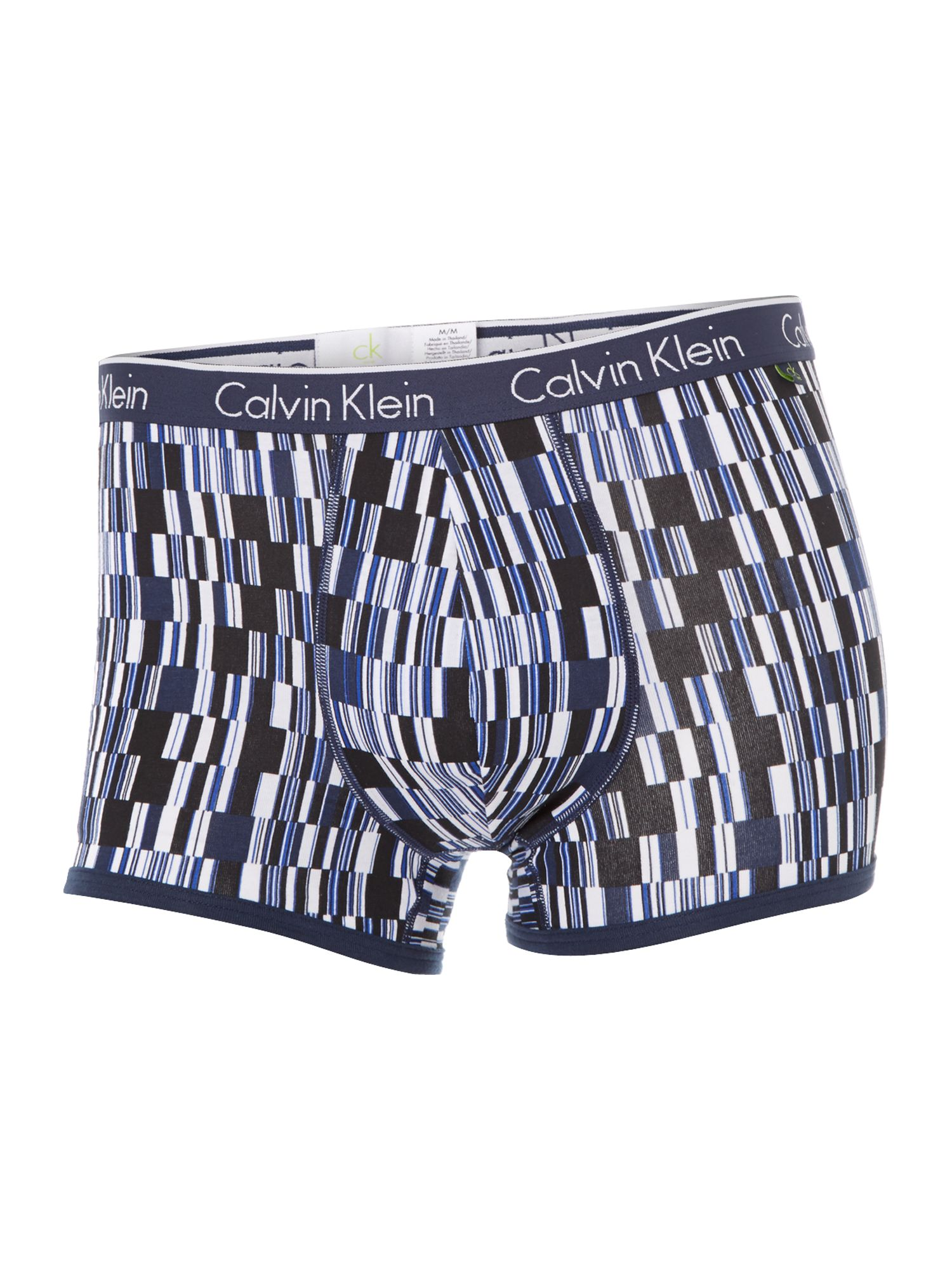 Data blocks print underwear trunk