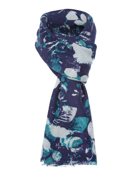 Lola Rose Graffiti rose wool scarf