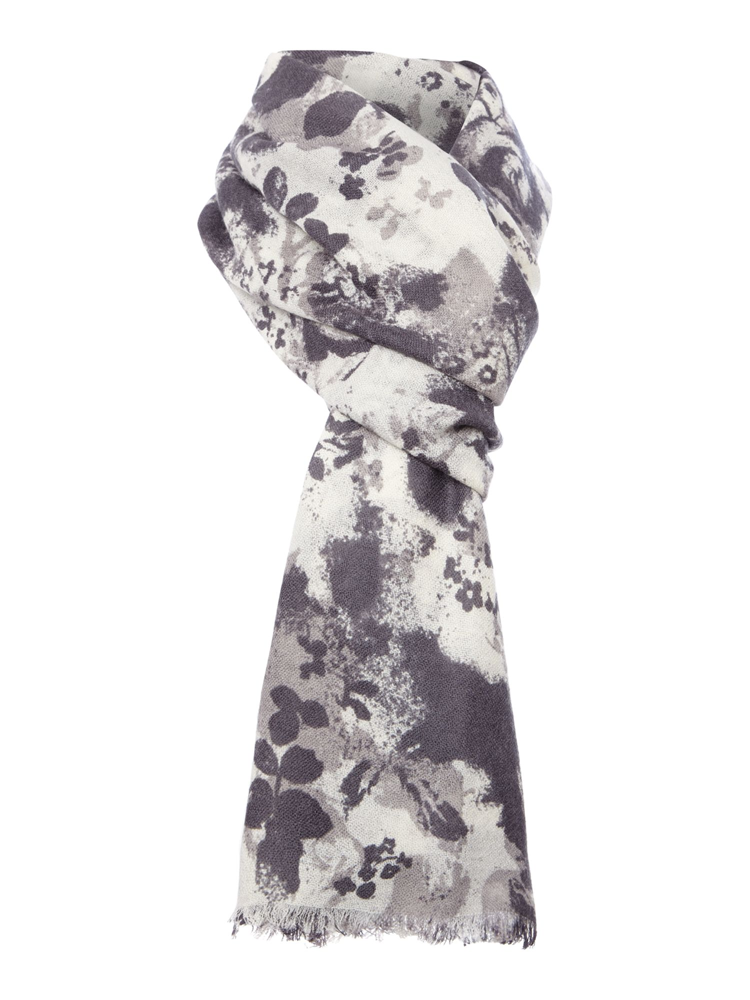 Graffiti rose wool scarf