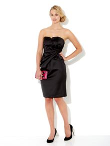 Satin bow front dress