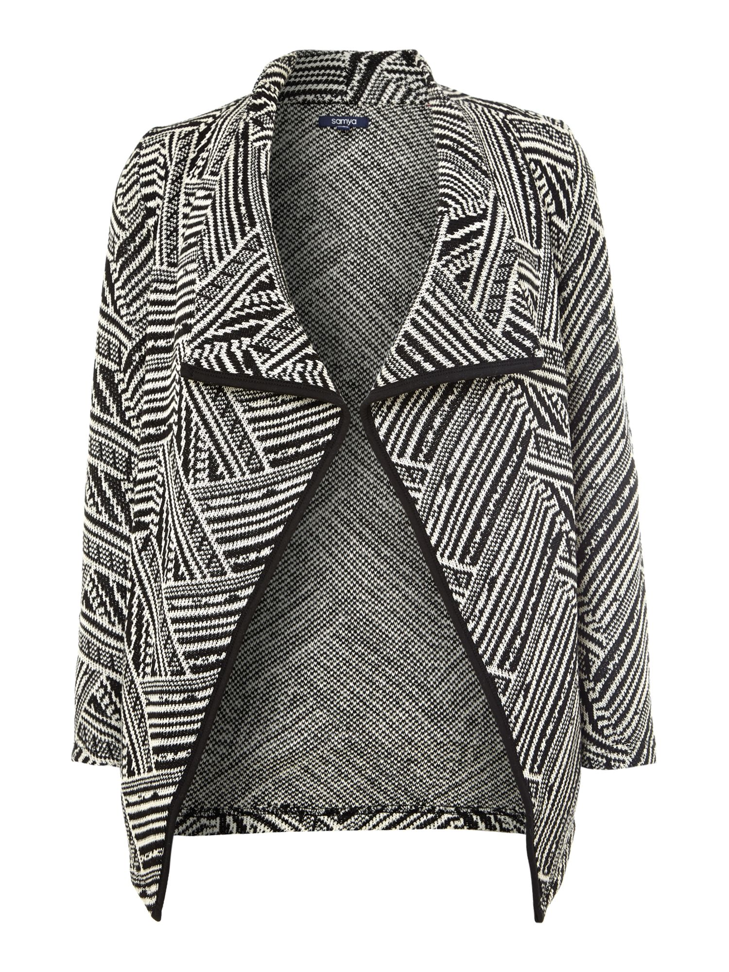 Tribal print waterfall cardigan