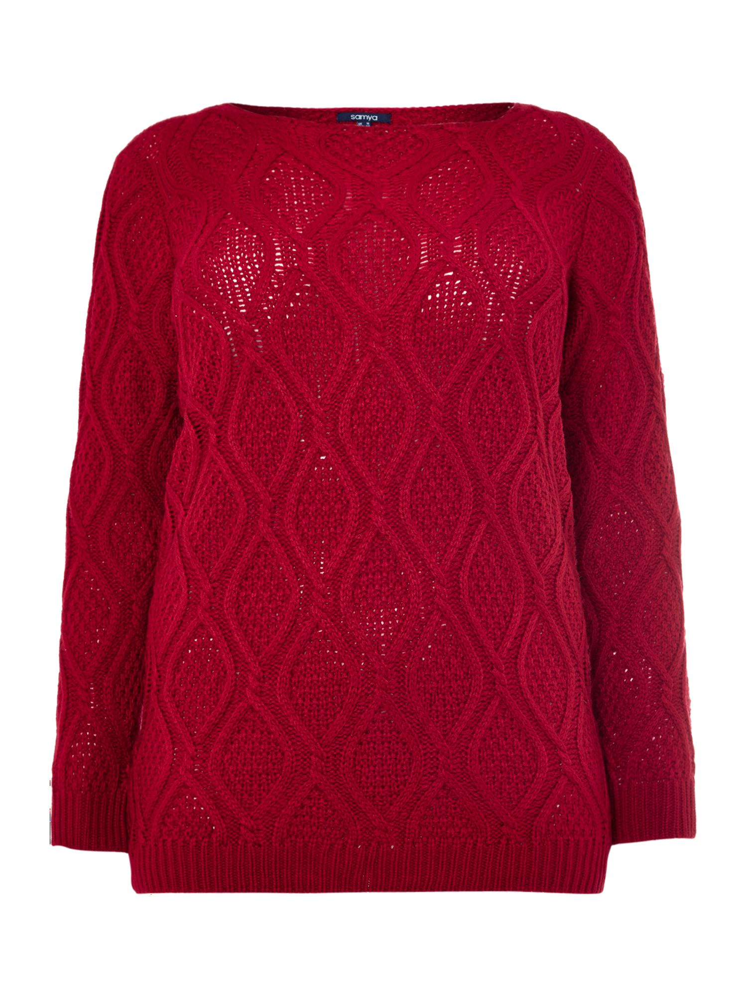 Textured pattern knit jumper