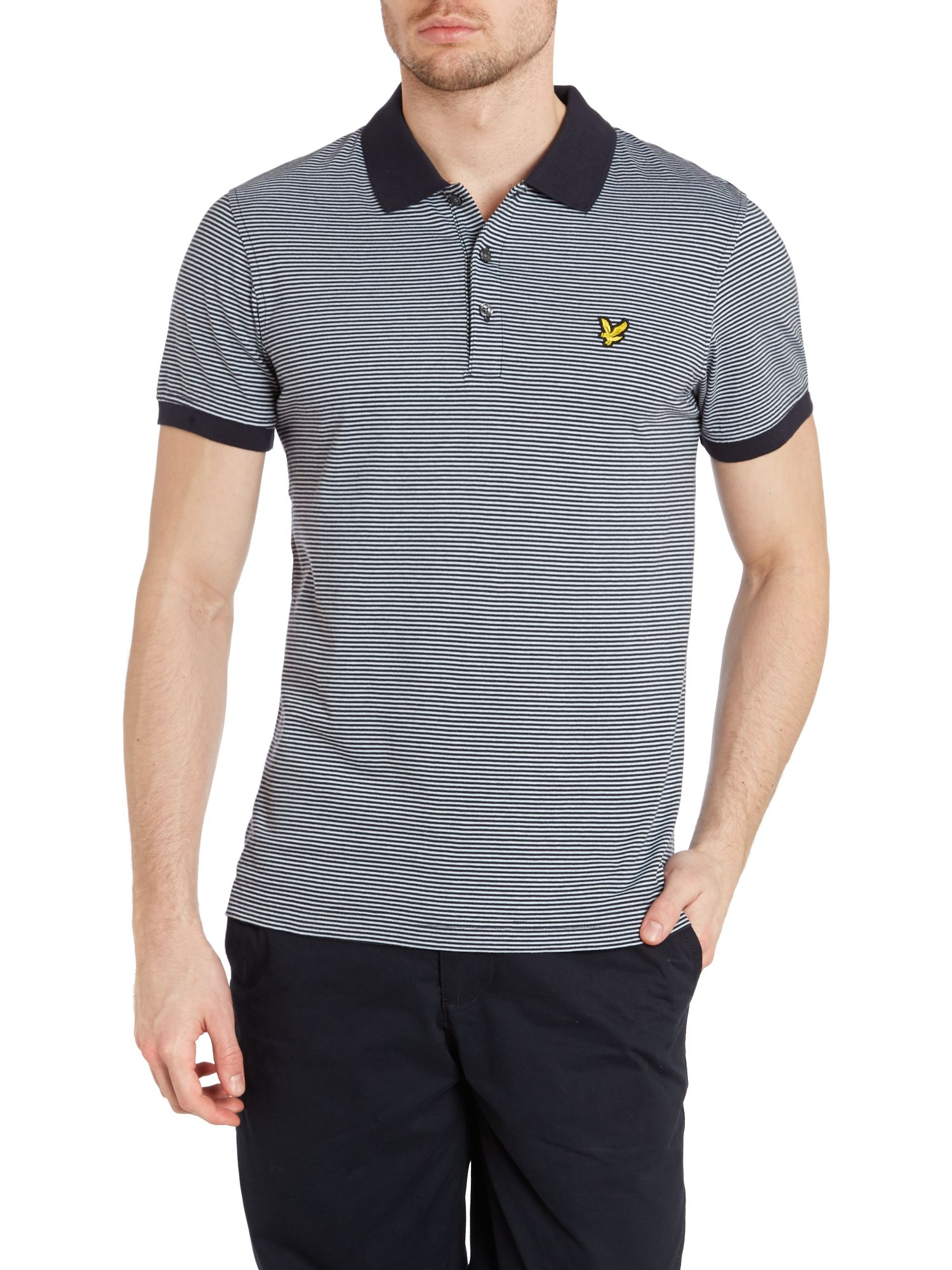 Fine stripe polo shirt