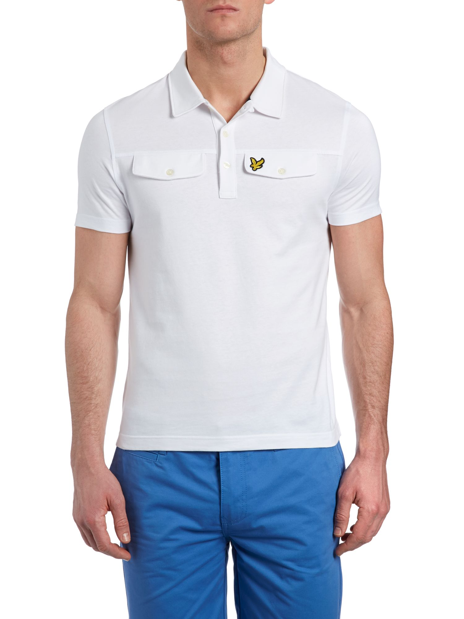 Mock pocket polo shirt
