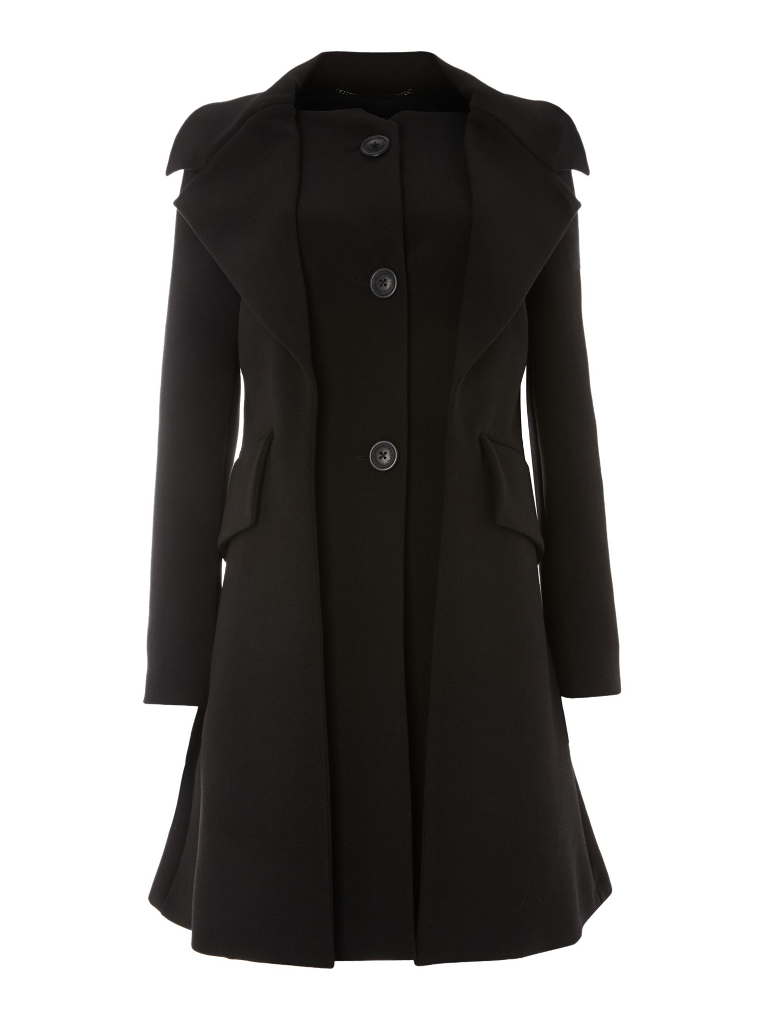 Cast flap front coat