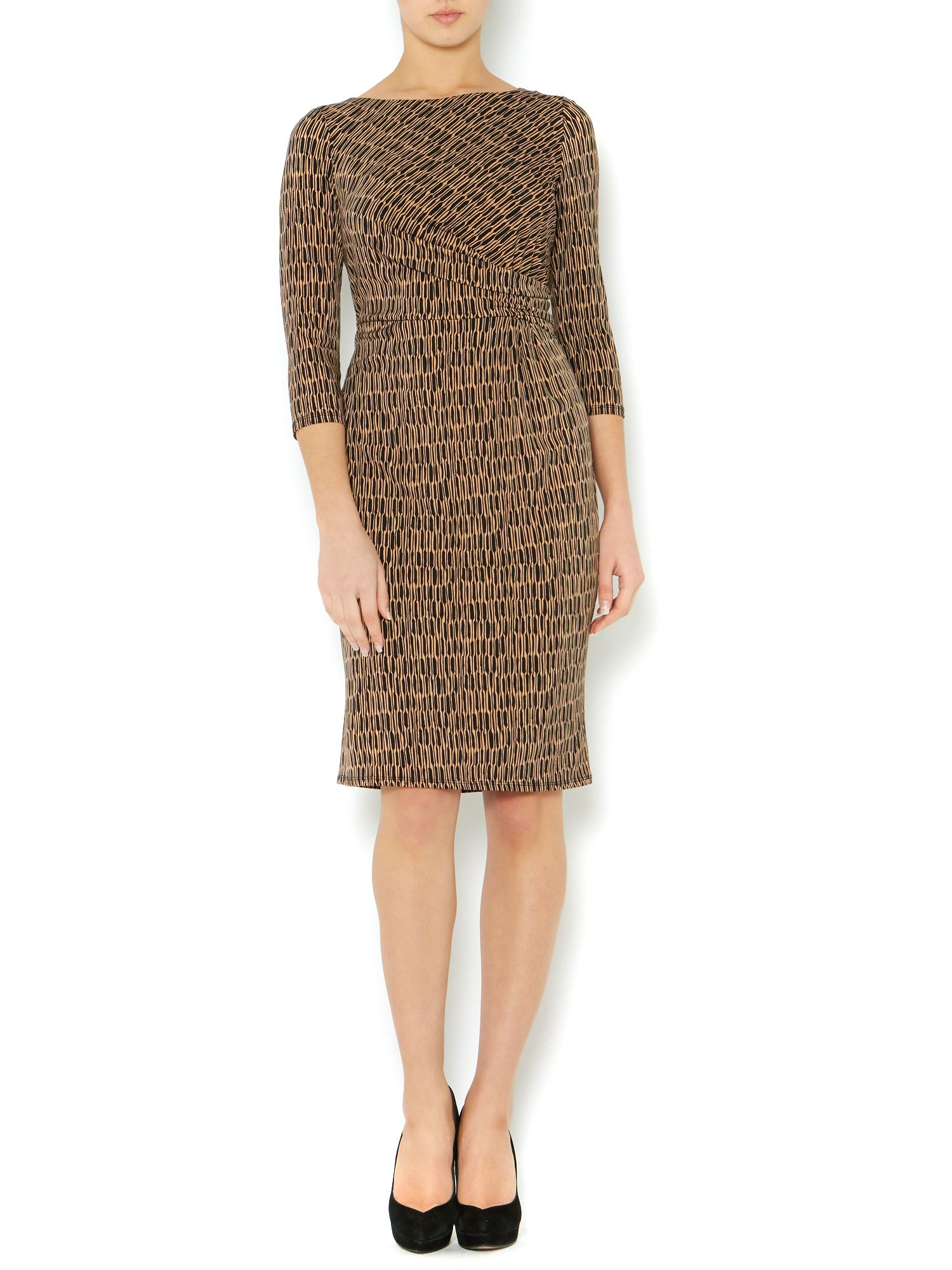 Side twist graphic jersey dress