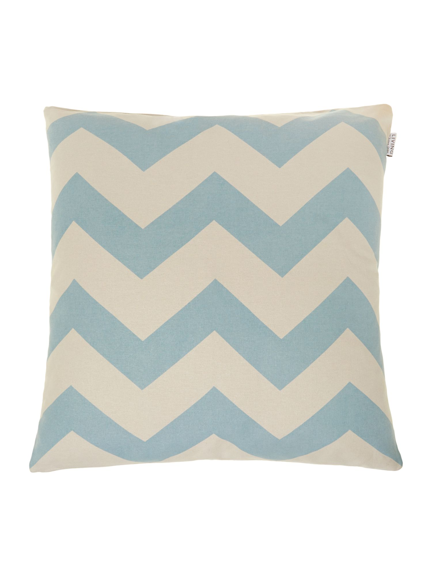 Slate oversized chevron print cushion