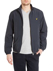 Zip through funnel neck jacket