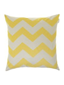 Oversized chartreuse chevron printed cushion