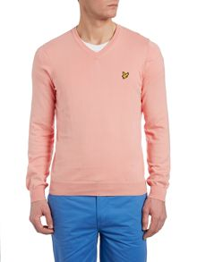 V neck classic cotton jumper