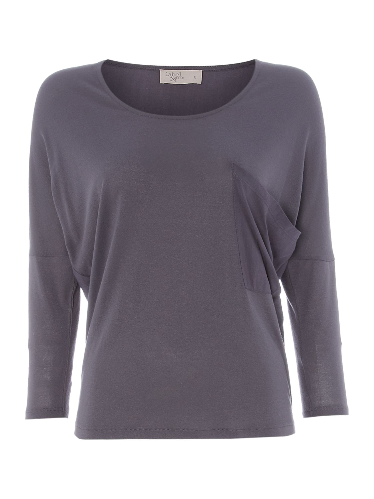 Long sleeved woven jersey top