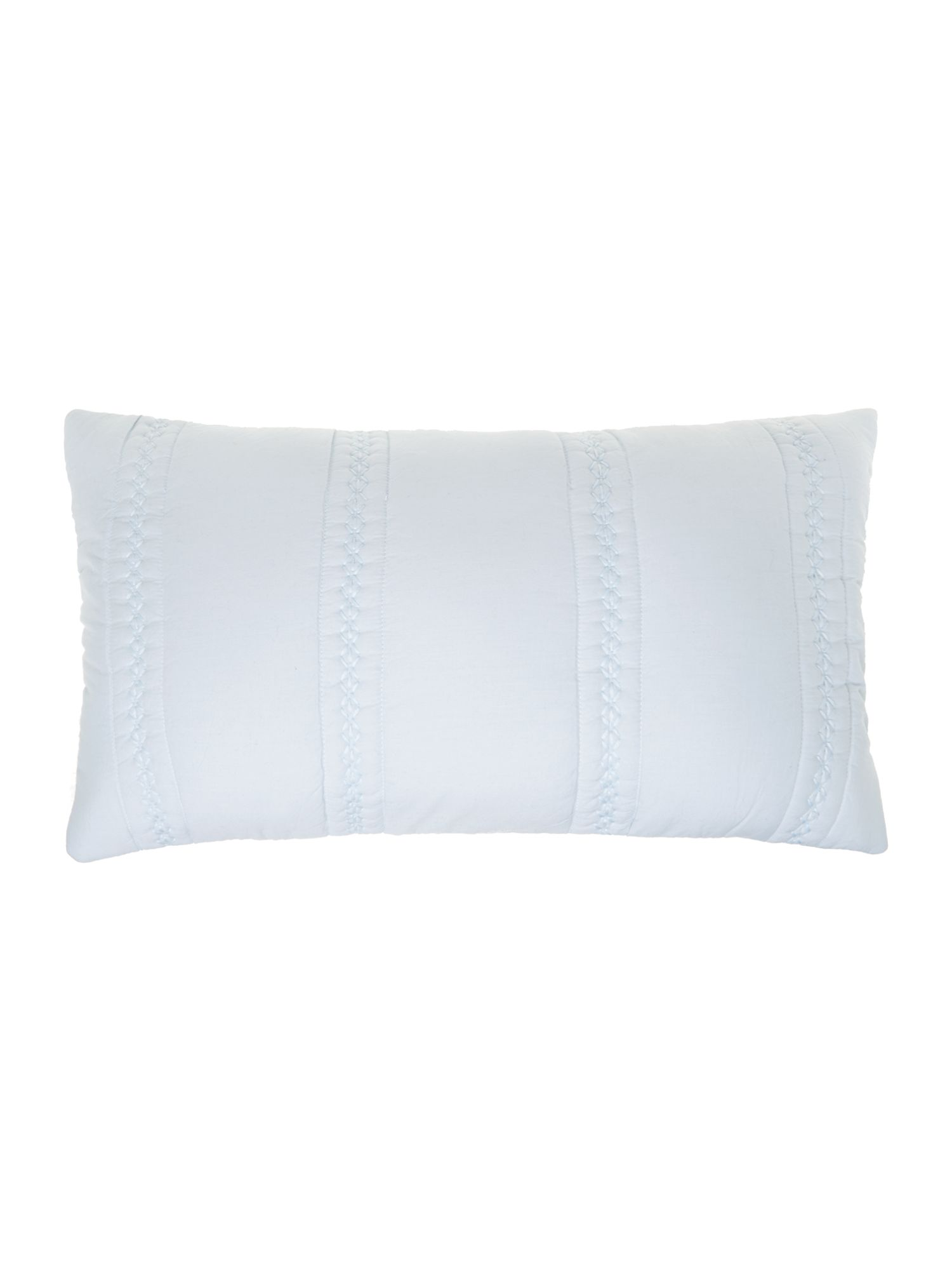 Blue crosshatch cushion