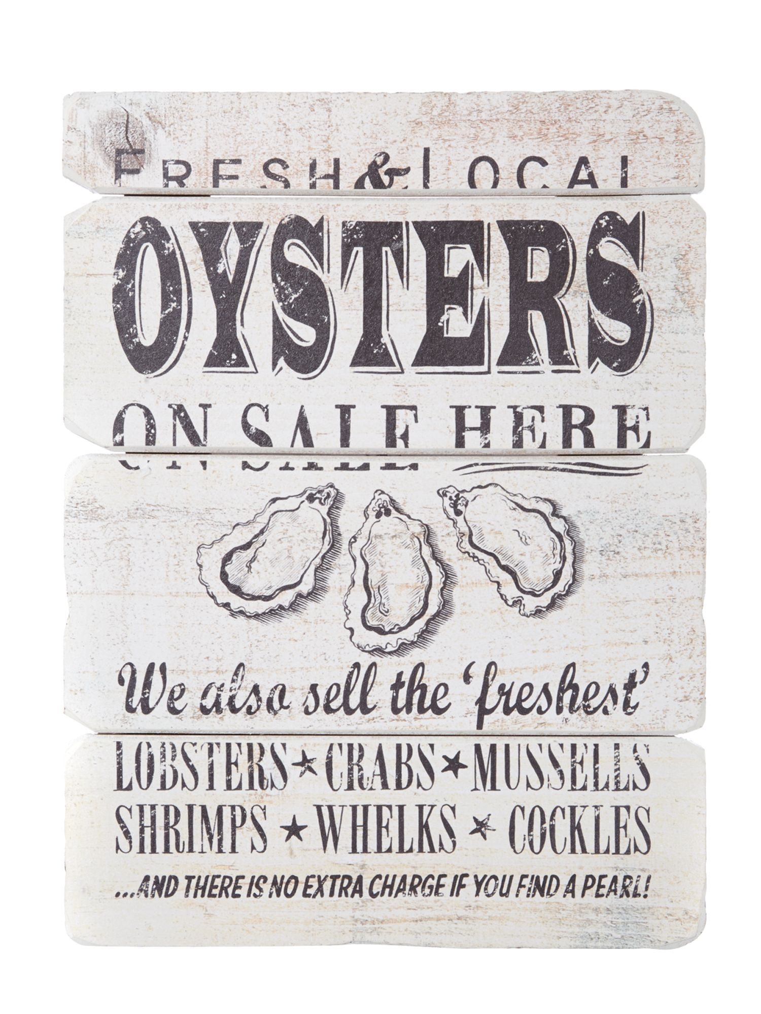 Seaside oyster board Wall Art