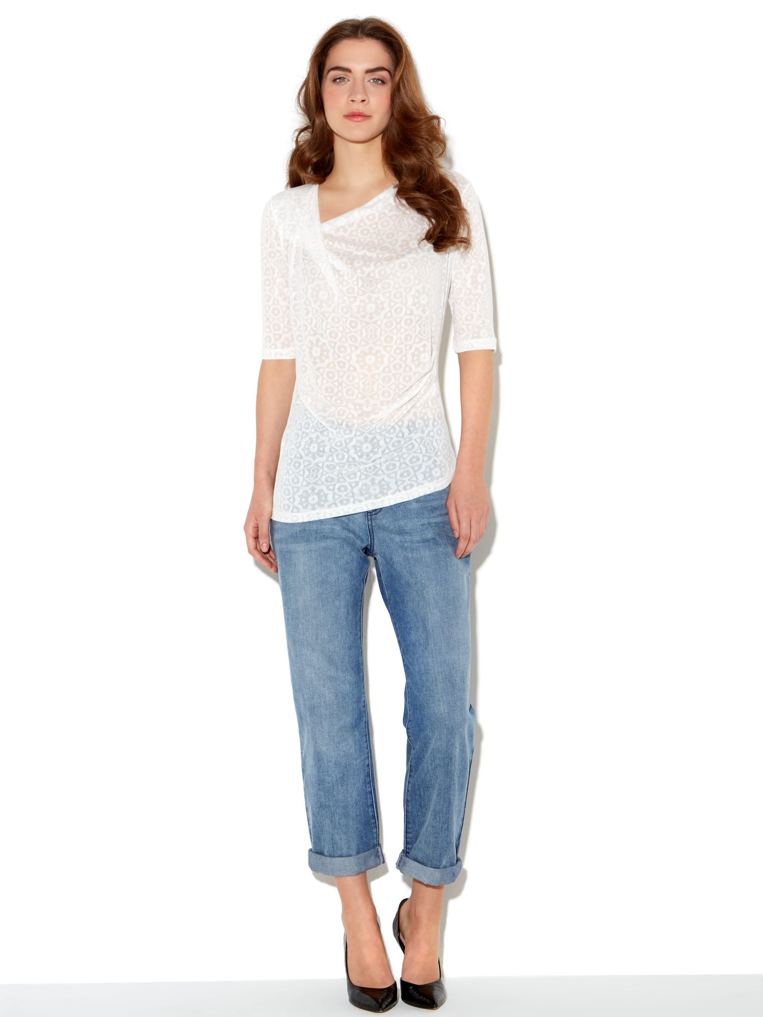 Twist & tuck moro burnout top