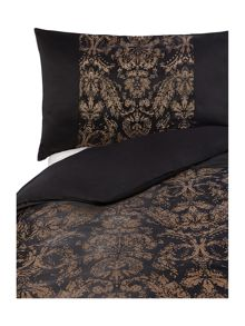 Alondra housewife pillowcase in black and gold
