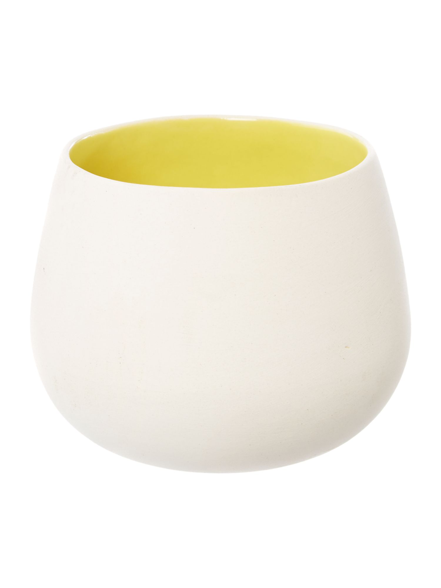 Ceramic votive, yellow