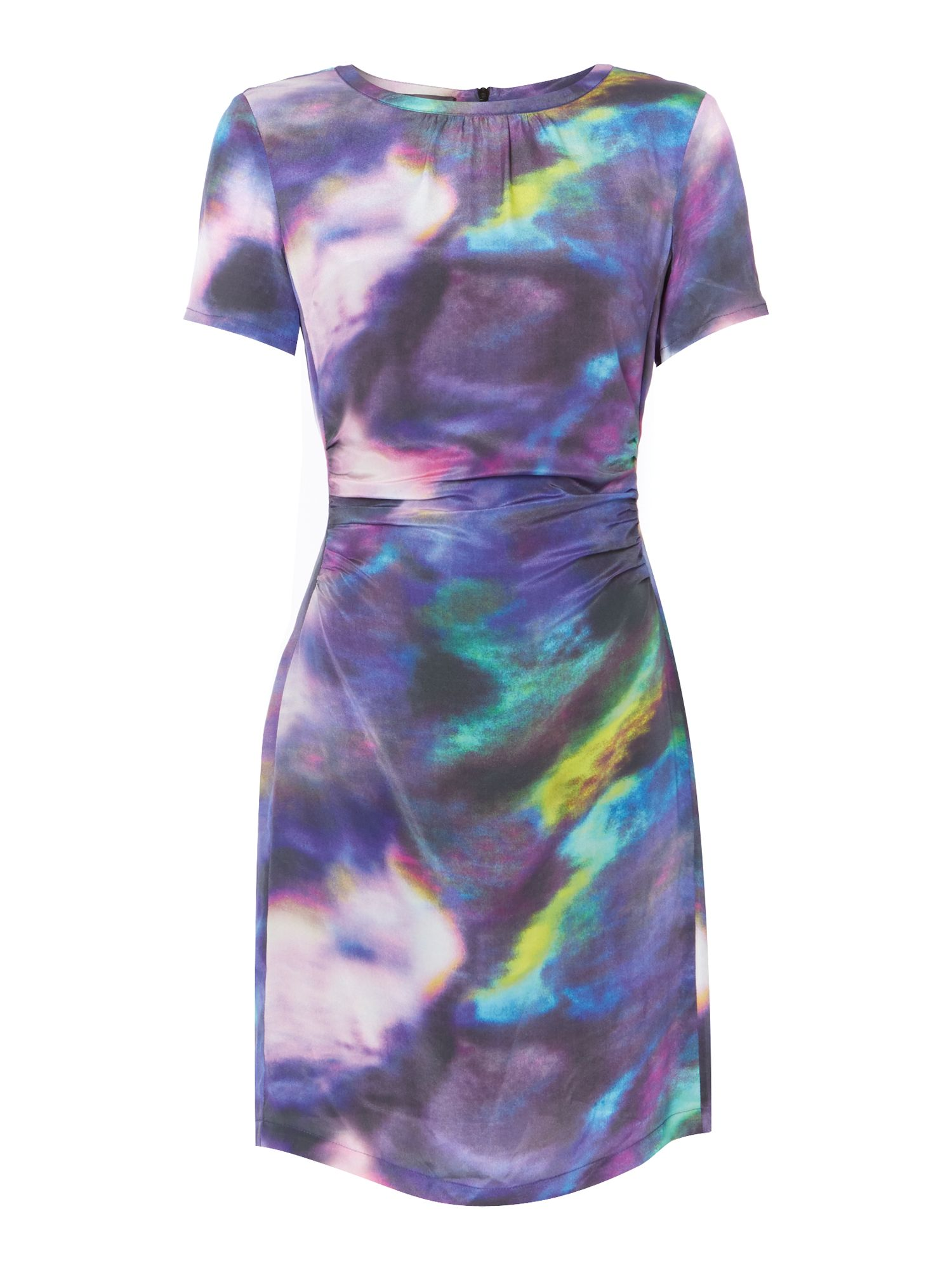 Hannah Silk Smudge Print Dress