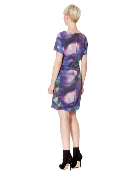 Pied a Terre Hannah Silk Smudge Print Dress