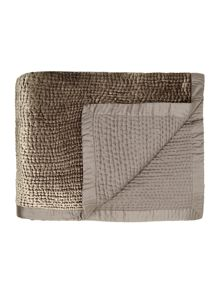 Pewter channel bedspread