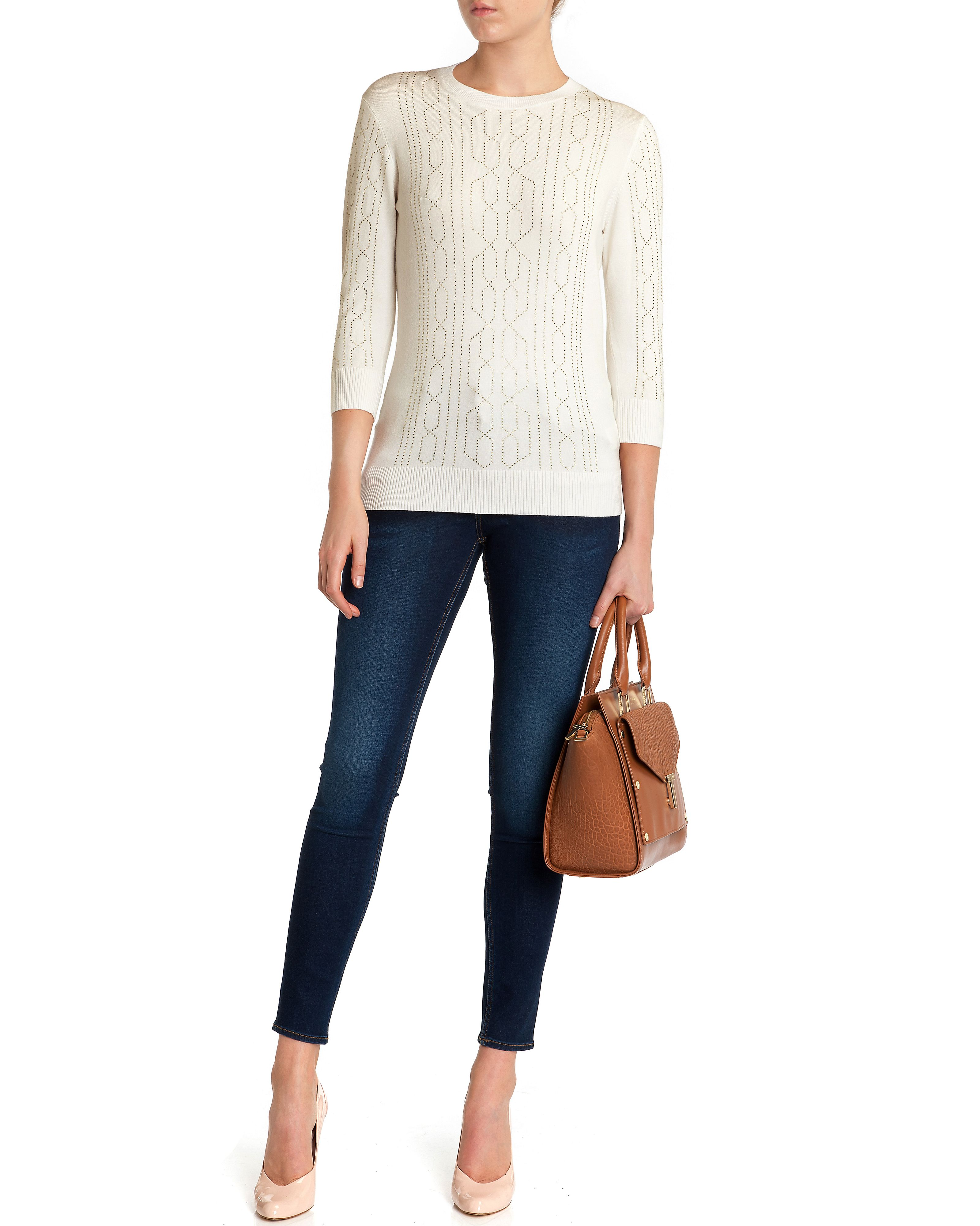 Nalea studded knit sweater