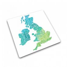 UK Gastronomy Map work top saver 30x30