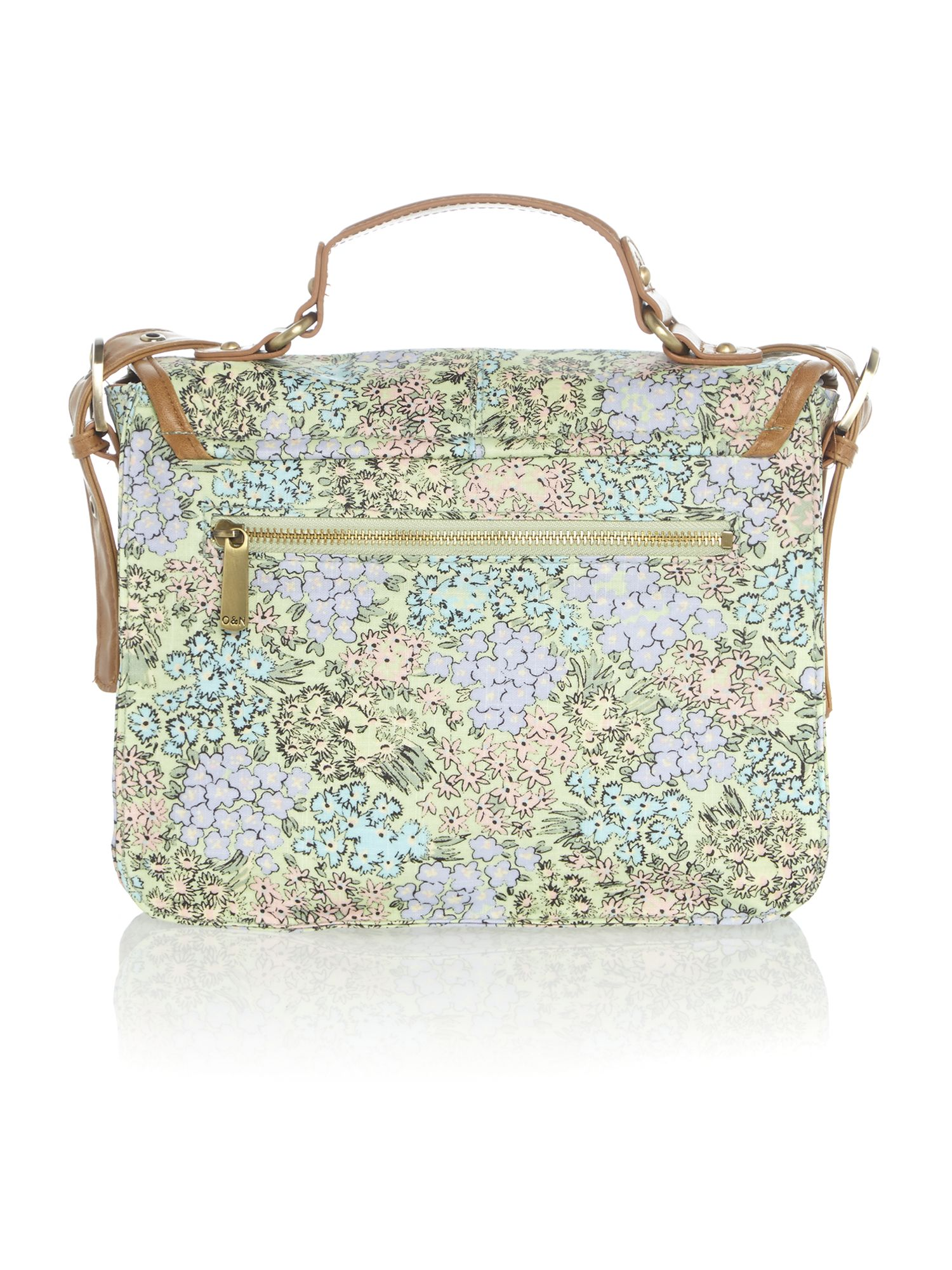 Busy lizzie multi-coloured satchel bag