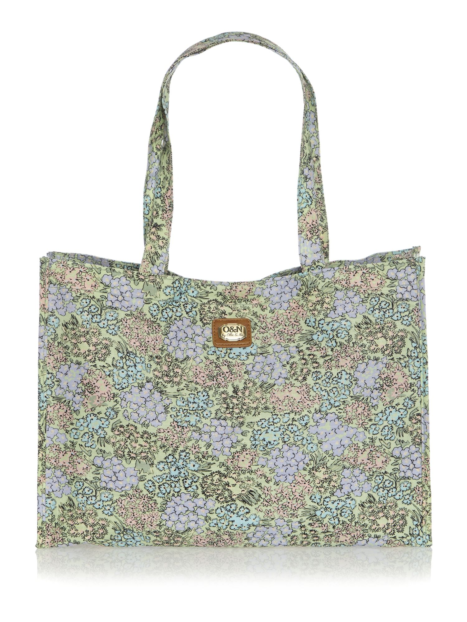Busy lizzie multi-coloured tote bag