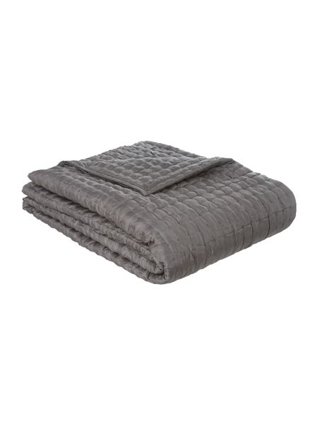 Casa Couture Pewter silk bedspread 190x220