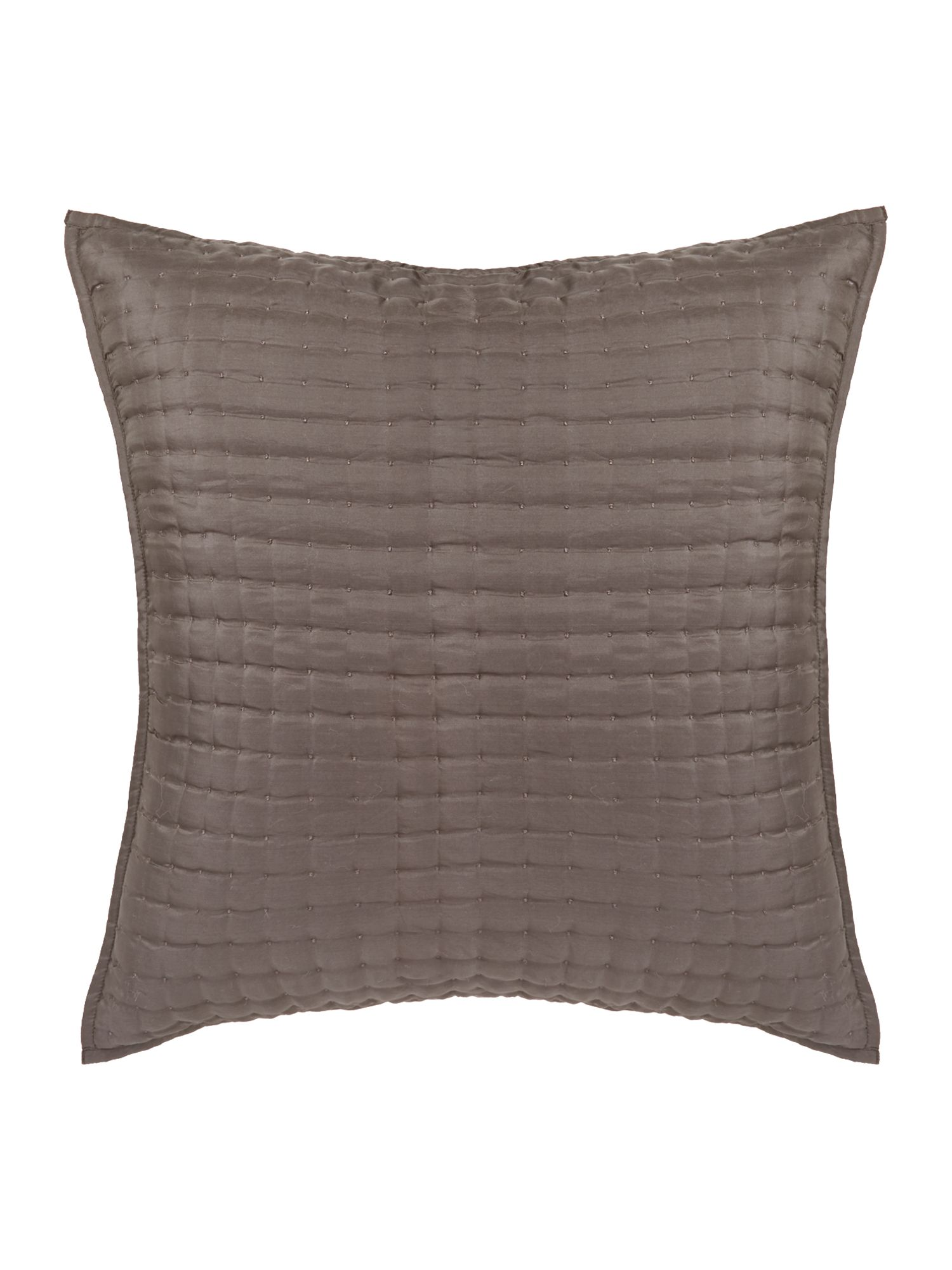 Pewter silk sham