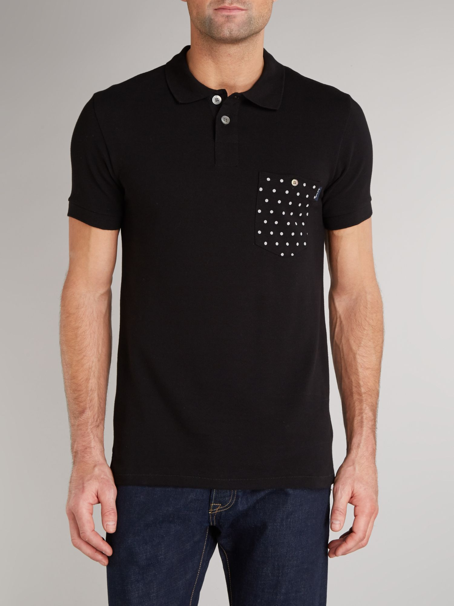 Spot pocket polo shirt