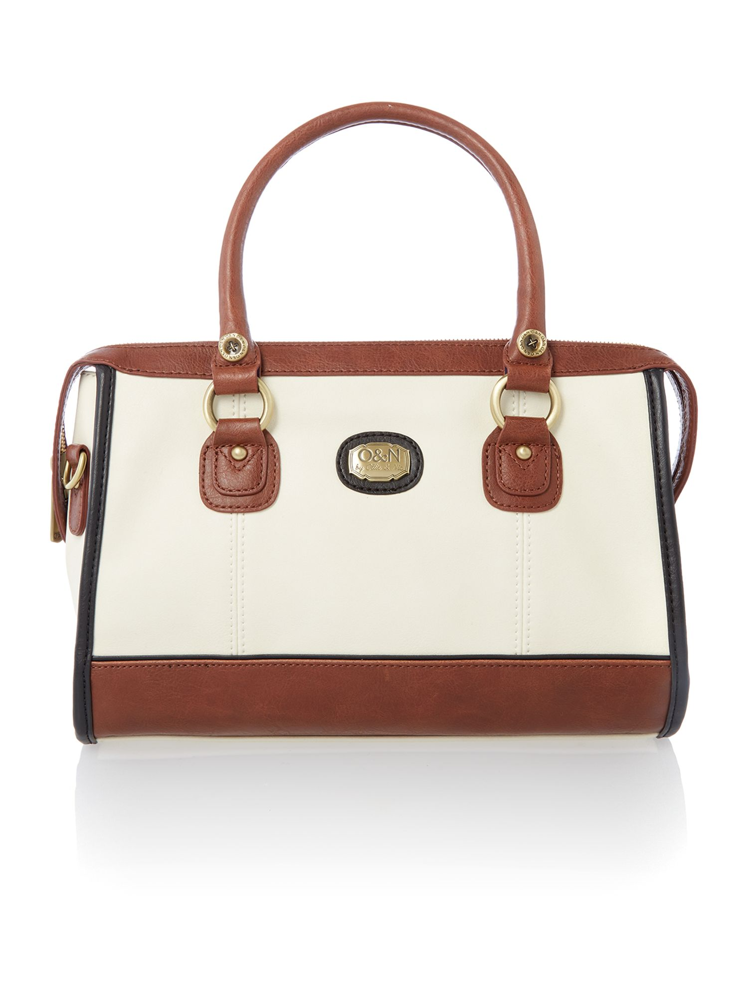Edwina neutral tote bag